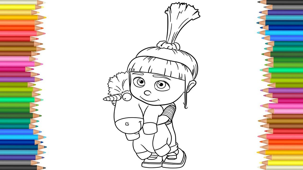 Agnes From Despicable Me 2 Coloring Pages | Unicorn ... |Despicable Me Agnes Unicorn Coloring Pages