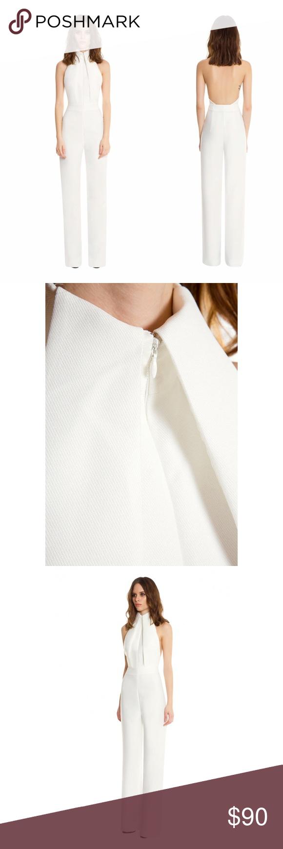 f4b12e615e3 AQ AQ Hero Backless Jumpsuit- Cream   White XS -0 The white Halter ...