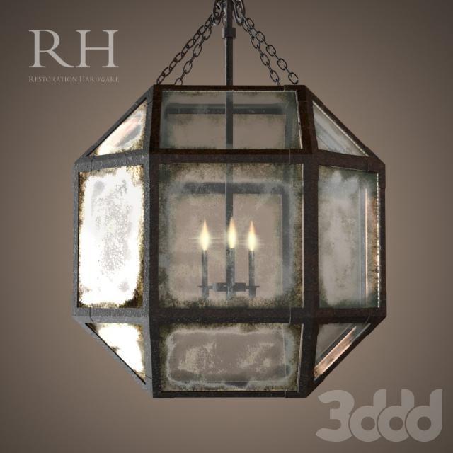 Rh Parisian Octagonal Pendant 3 Size Lighting