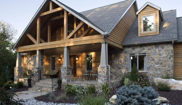 Looking for stone face for exposed foundation designed for Stone faced houses