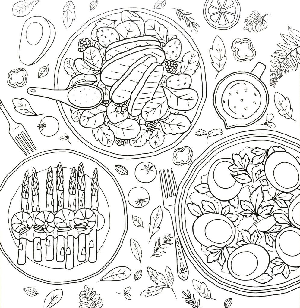Coloring and the Food - Hey Eonni | Coloring books ...