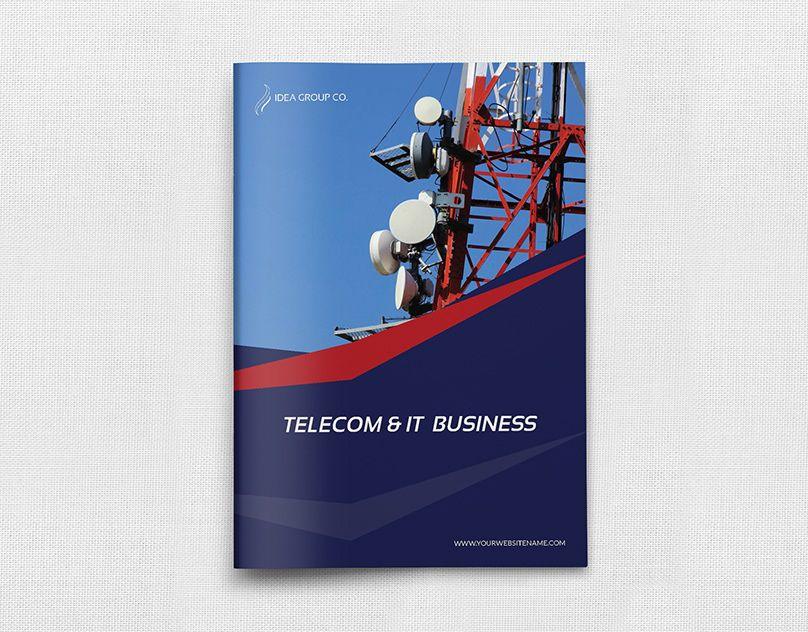 Brochure Description Telecom Services Brochure Template 12 Pages Is Super Simple To Edit And Customize W Brochure Template Brochure Design Template Brochure