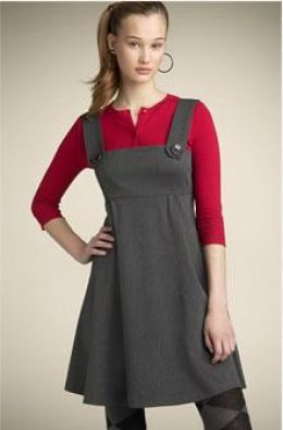 24636063c16 jumper - dress worn over a shirt or tee-shirt - sleeveless - 2012 versions  are a more fitted