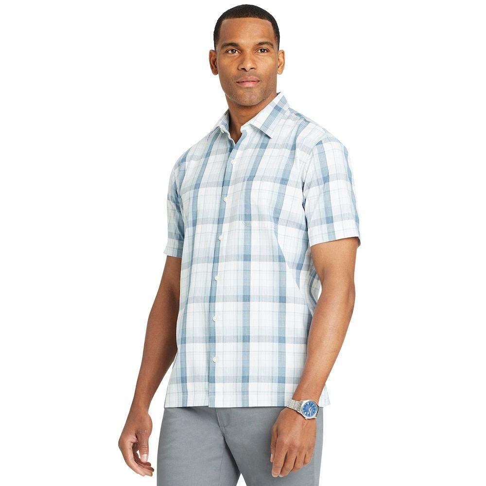Men S Van Heusen Air Button Down Classic Fit Shirt Workout Shirts Long Sleeve Shirts