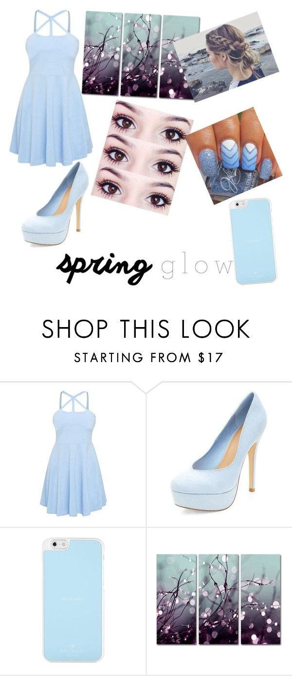 """Spring dress"" by hogwarts-is-home ❤ liked on Polyvore featuring Kate Spade, Trademark Fine Art and springglow"