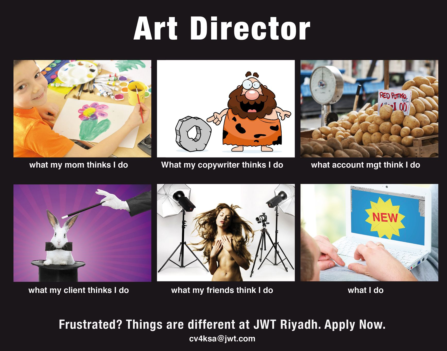 Jwt Riyadh Recruitment Ad For An Art Director  Digital  Viral