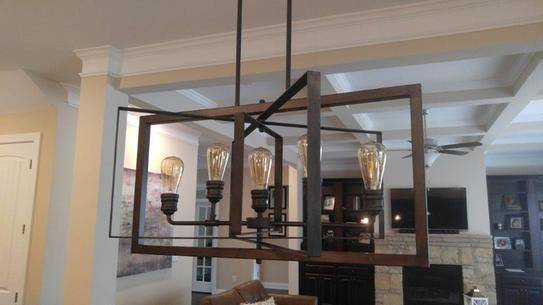 Home Decorators Collection Palermo Grove Collection 5 Light Gilded Iron  Linear Chandelier 7922HDC At The