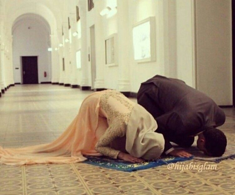 Image result for muslim couple praying