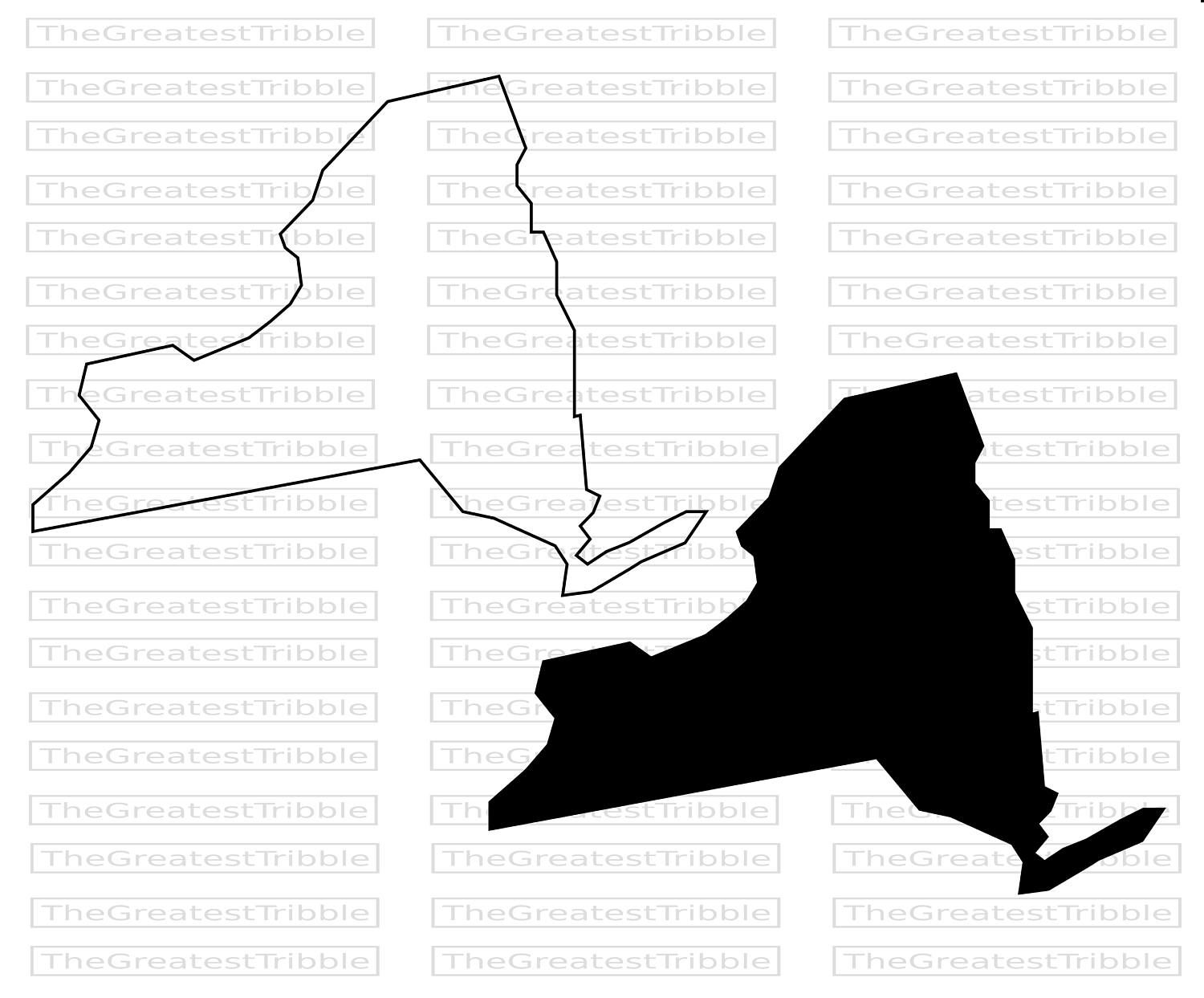 New York State Map Svg Png Jpg Eps Vector Graphic Clip Art New Etsy Map Of New York Clip Art York Map