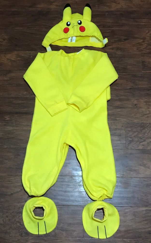 Pokemon Go Toddler Pikachu Costume - size 2T | eBay : ebay pikachu costume  - Germanpascual.Com