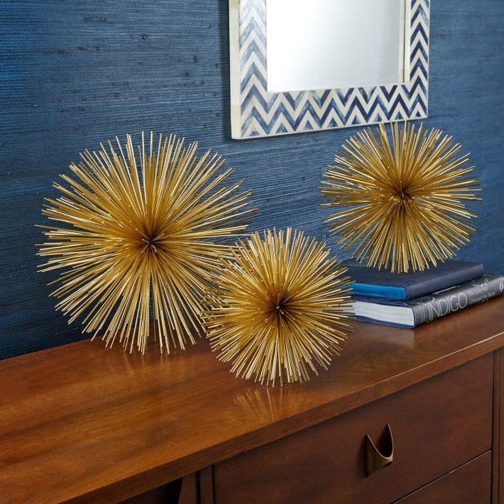 Gold Starburst Decorative Accent Pieces design by Twos Company | #mystylerepublic | www.mystylerepublic.com