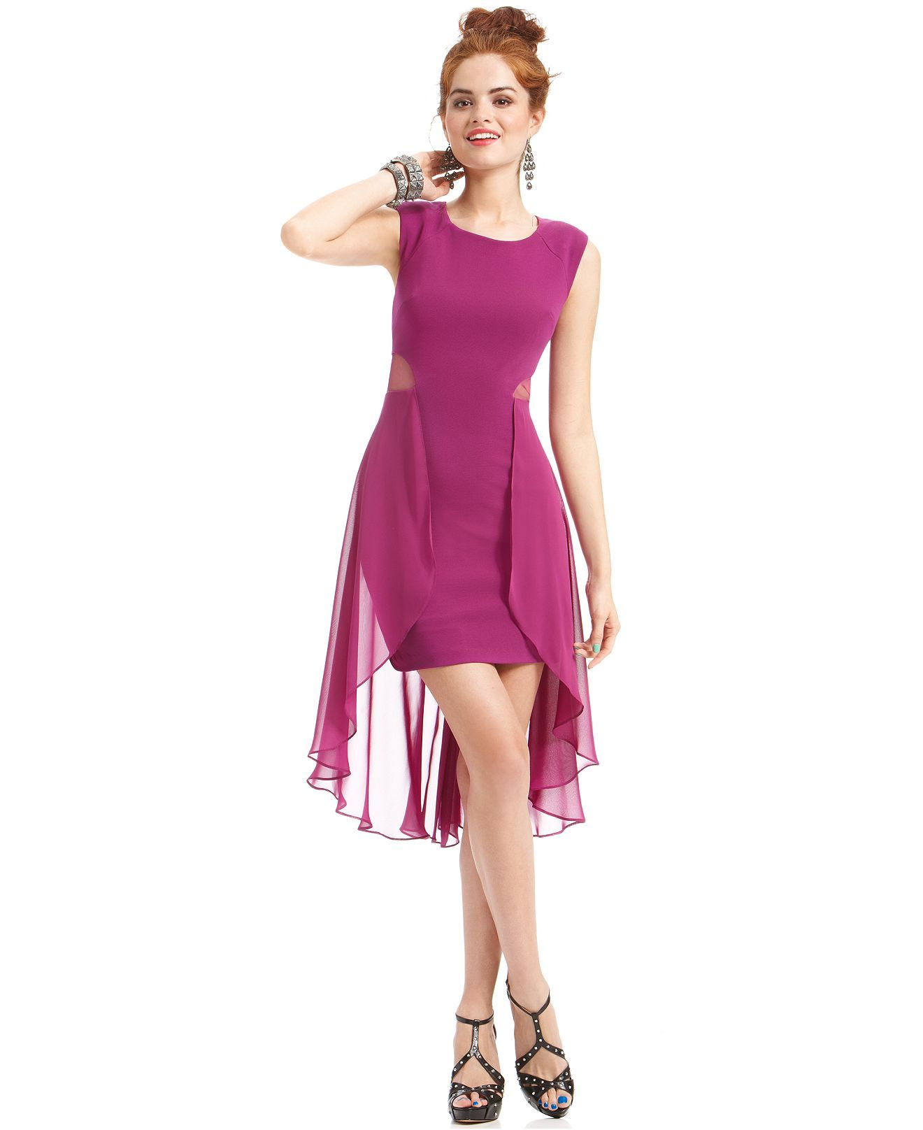 Hailey Logan Juniors Dress Sleeveless Chiffon High-. Find Macy' Dresses