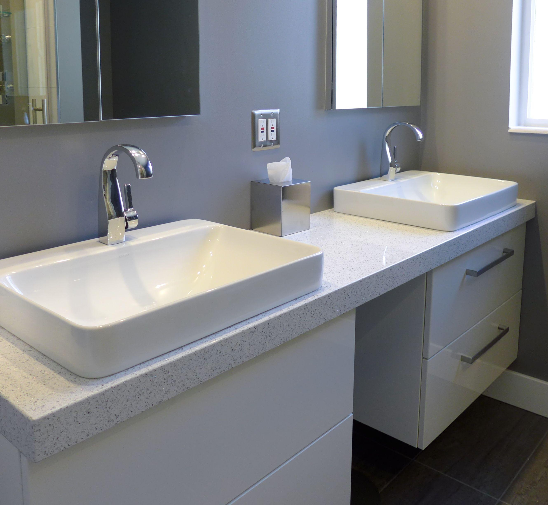Whitney Cambria Quartz Countertop Modern Vanity Accent Interiors - Salt lake bathroom remodeling