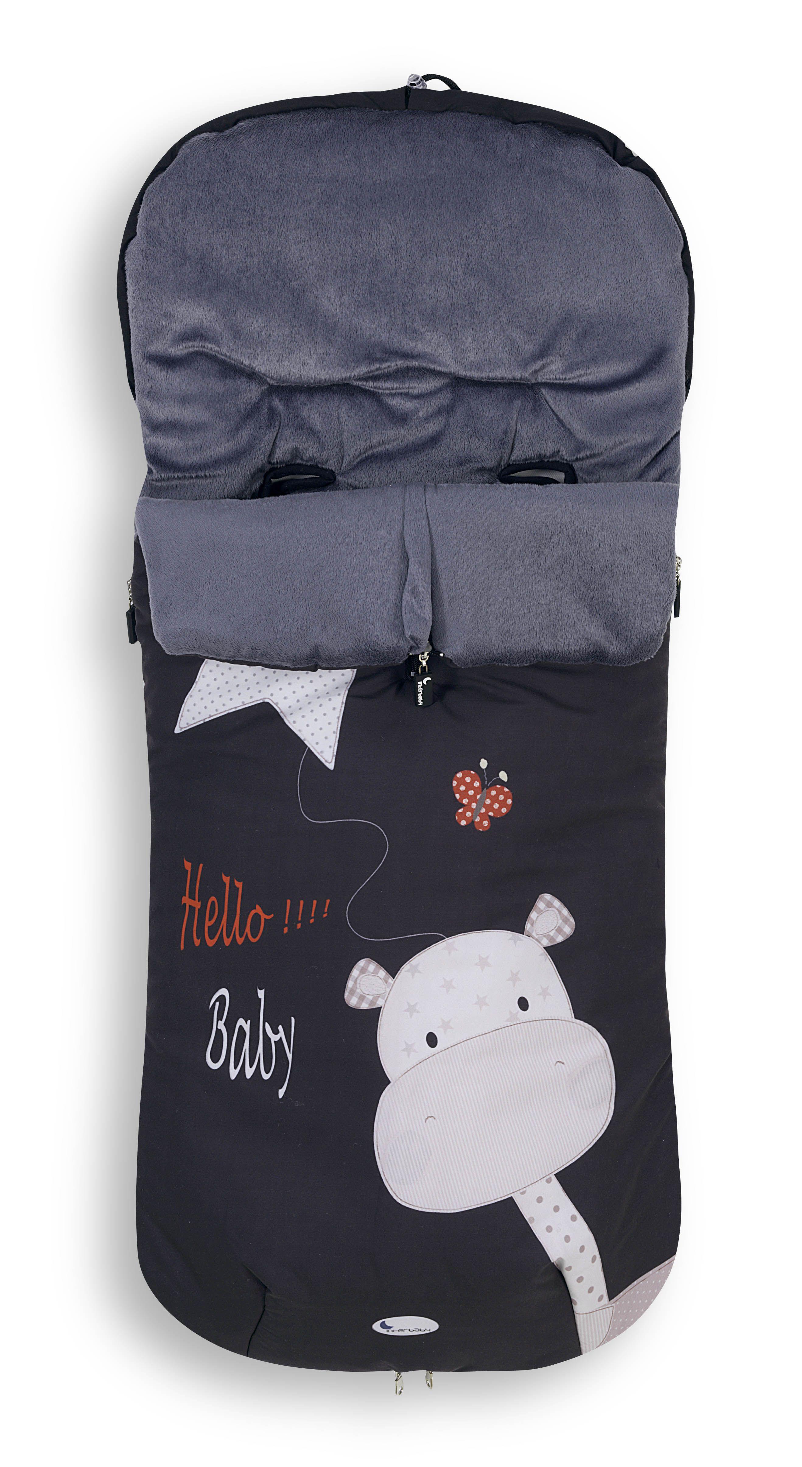 Saco Hello Baby en color negro para sillas y carros de paseo