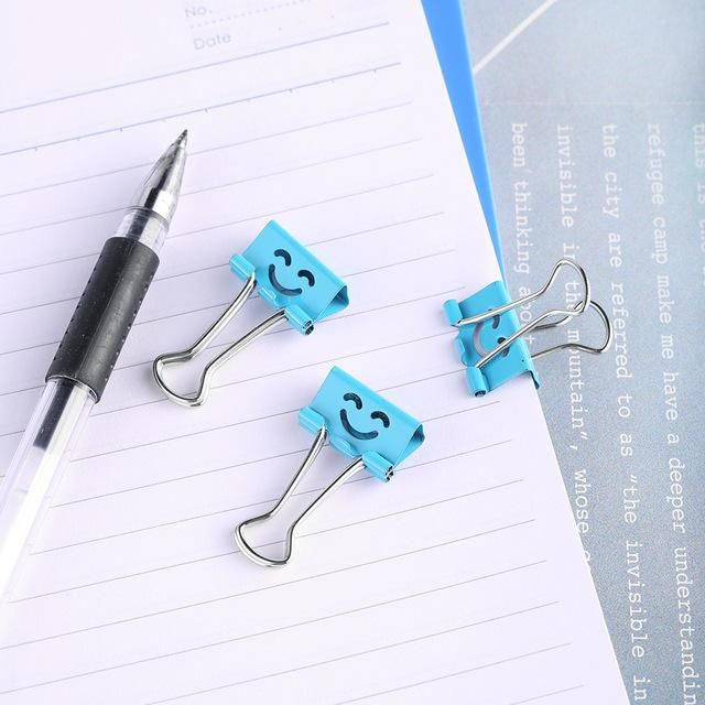 Smile Metal Clip Cute Binder Clips