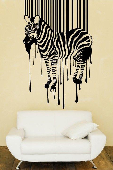 Zebra Barcode Stripes Wall Sticker This Wall Art Is So Striking