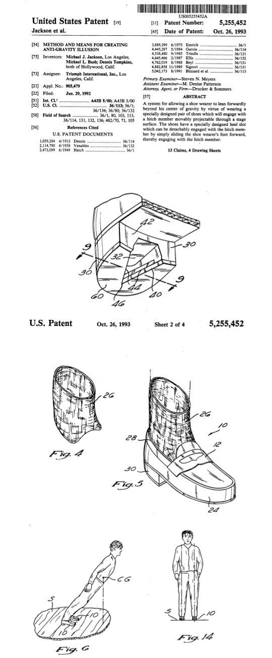 Michael J. Jackson, #patent, Tanzpose in Musikvideo