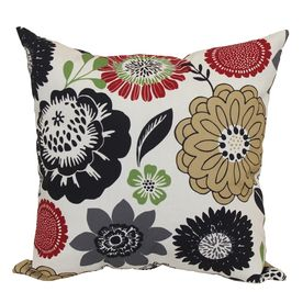 Wonderful Garden Treasures Black Multi UV Protected Square Outdoor Decorative Pillow