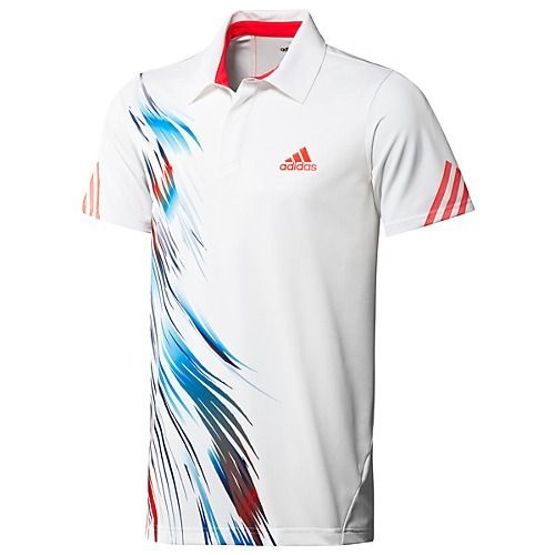 Adidas White Tennis Adizero Theme Jo Polo Men's ShirtCreate pSzMqUVLG