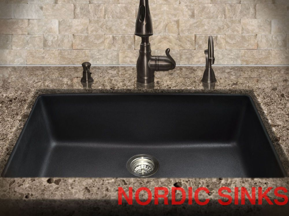 Image result for grey granite with black sink kitchen | apartment ...