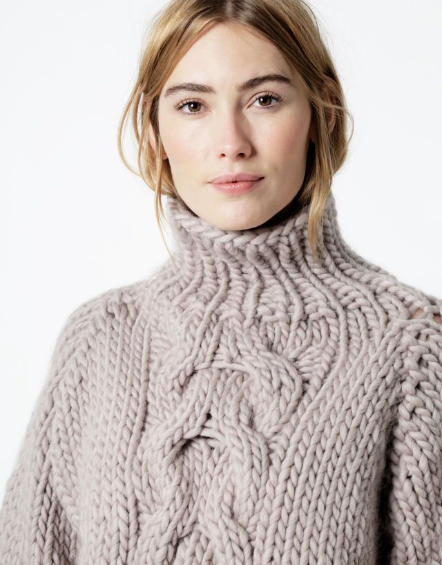Cropped Cable Sweater Kit By Wool And The Gang Crochet Knitting
