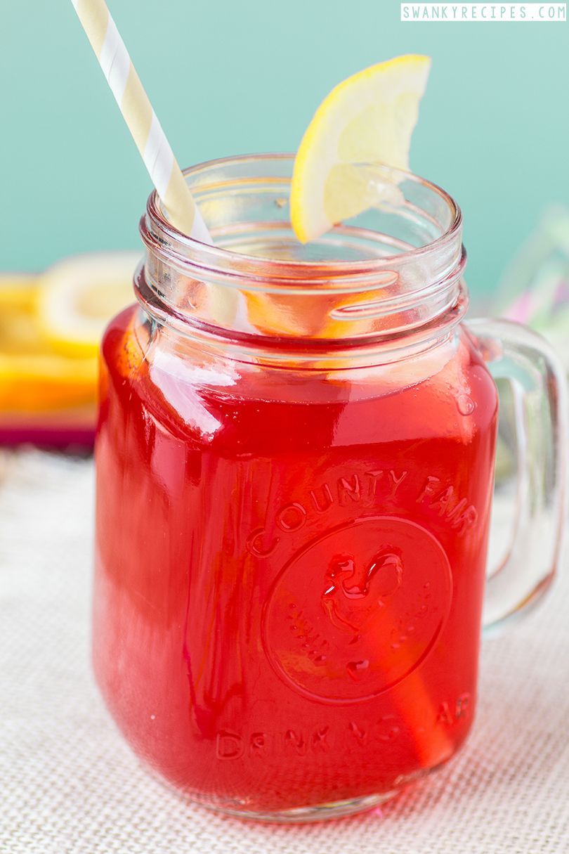 Tropical Cherry Party Punch Swanky Recipes Punch Recipes Party Punch Party Punch Alcohol