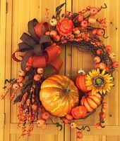 Fall Wreath Autumn Wreath Pumpkin Wreath Farmhouse Decor Thanksgiving Decor Fall Wreath Autumn Wreath Pumpkin Wreath Farmhouse Decor Thanksgiving Decor