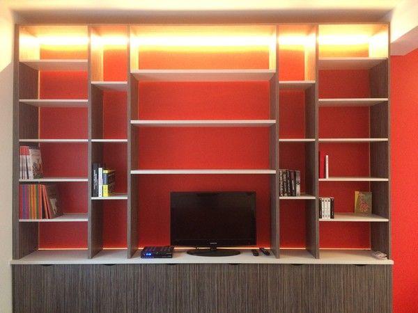 Bibliotheque Avec Tv Integree Amenagement D Une Bibliotheque