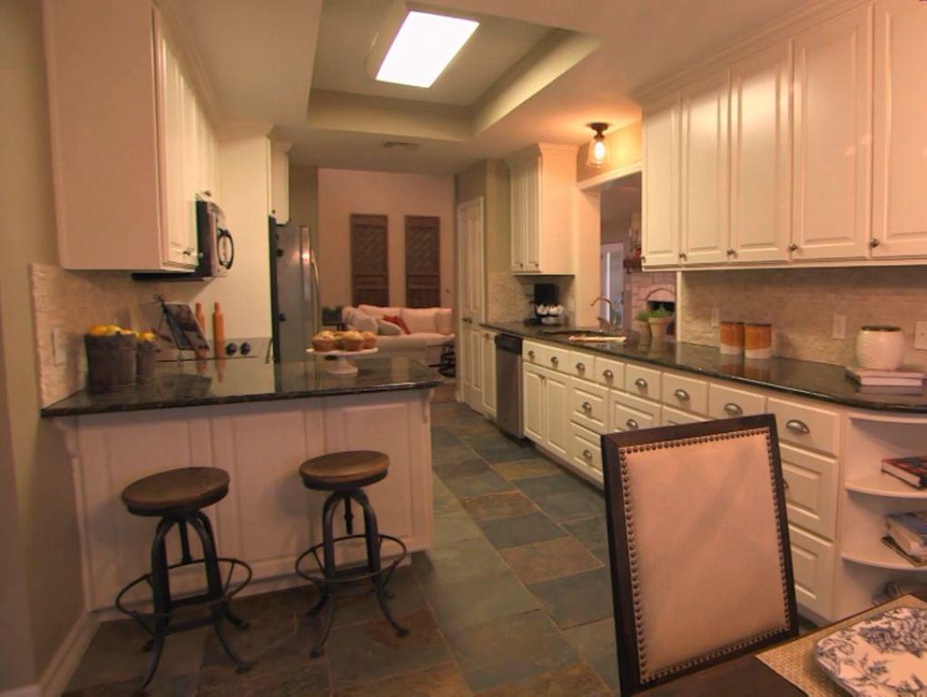 Fixer Upper Season 1 Episode 6 Cowboy Charm Slate Floor Kitchen Ii