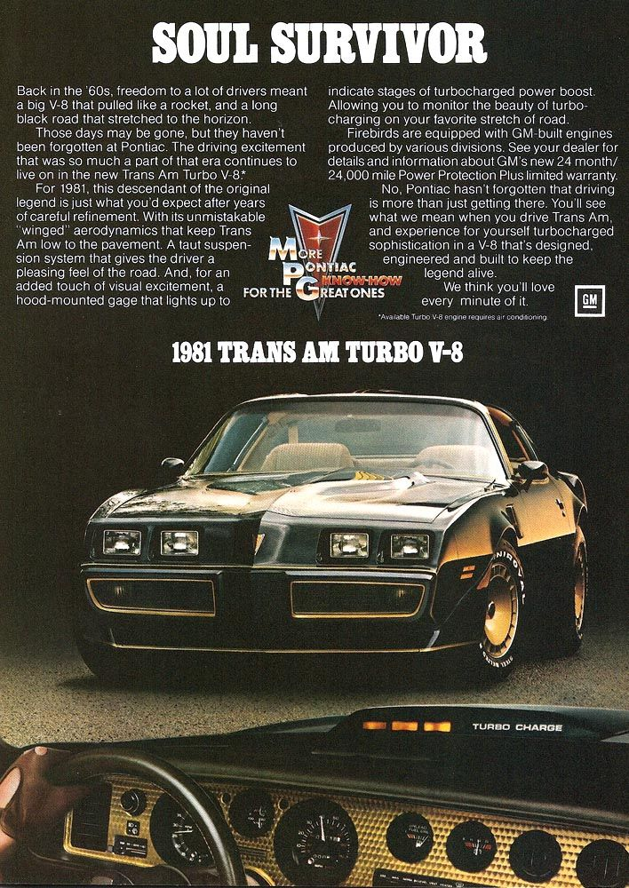 1981 TURBO Trans Am. As a 17 year old, I wanted one SO BAD!!! | Old ...