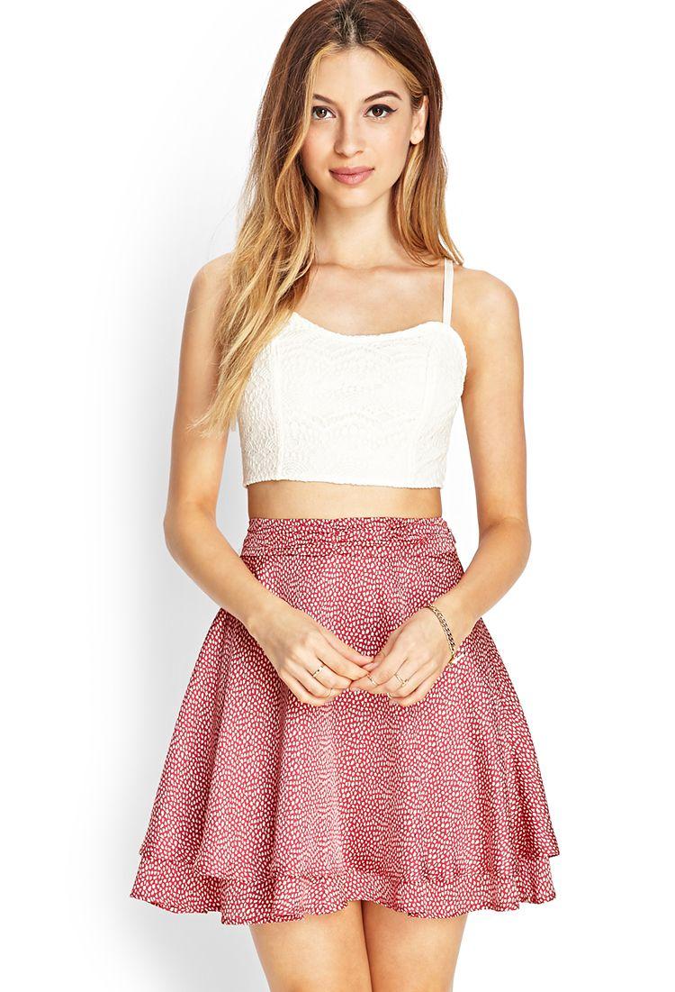 Layered Skater Skirt | FOREVER21 #SummerForever | Grunge STYLE ...