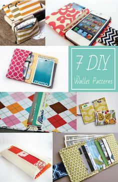 7 DIY Wallet Patterns on EverythingEtsy.com - These are awesome easy sewing  projects!