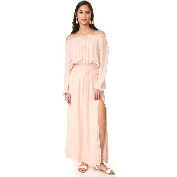 e6066e09c714 LOVESHACKFANCY Smocked Maxi Dress ( 333) ❤ liked on Polyvore featuring  dresses