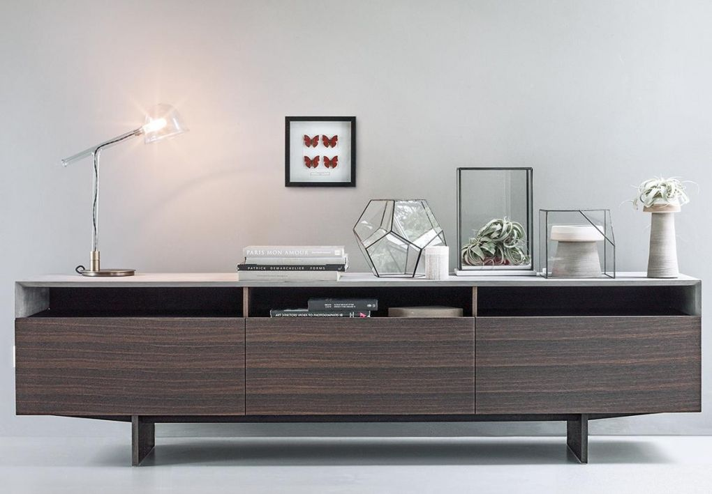 Sideboard Marble Arch Made In Oak With Doors And Drawers By Lema The Precious Cement Top Turning Around King Bedroom Furniture Furniture Apartment Furniture
