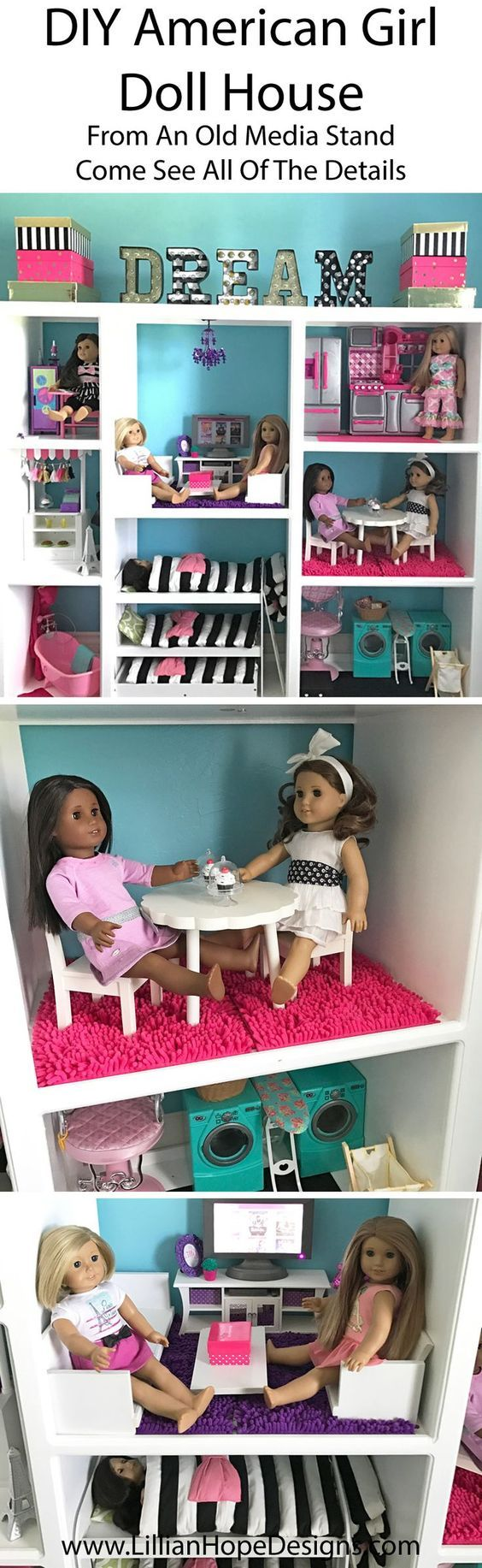 Loren W. made this American Girl Doll house. It\'s IN.SANE. bravo ...