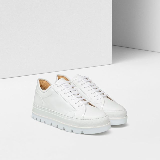 meet c8a16 6d370 Platform sneakers in crisp white leather usher in Spring-Summer 2017  season. Discover them now in MM6 boutiques worldwide and online.  mm6   mm6ma…