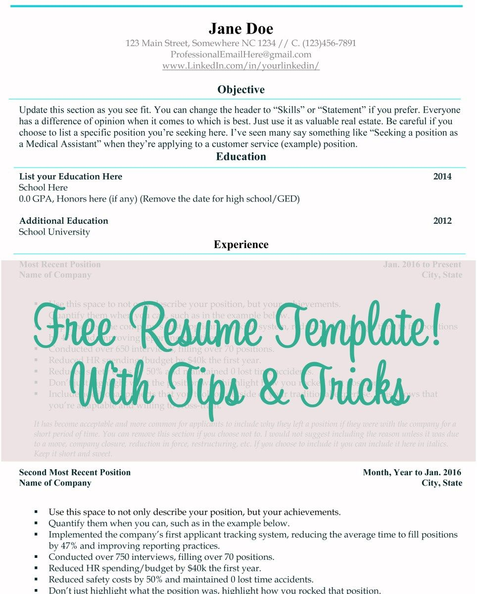 Finally An Easy To Customize And Clean Resume Template Absolutely