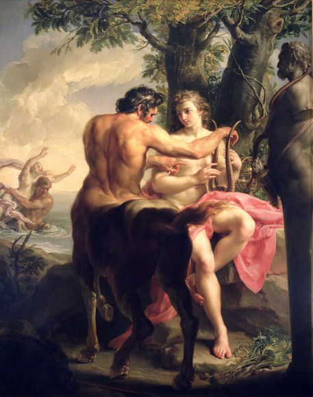 """The Education of Achilles by Chiron""  by Pompeo Girolamo Batoni"