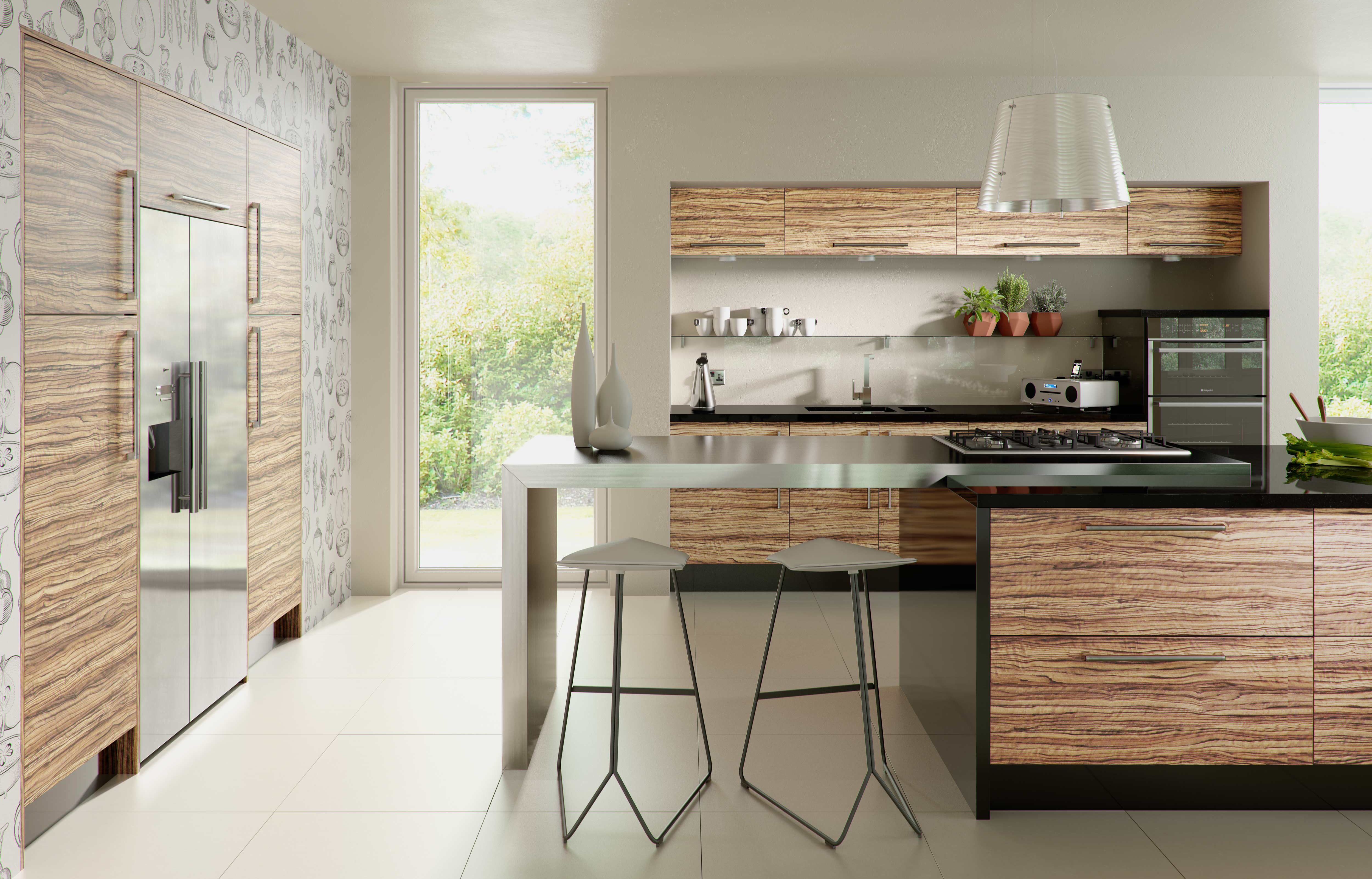 Caribbean Walnut range | DM Design Kitchens | Pinterest