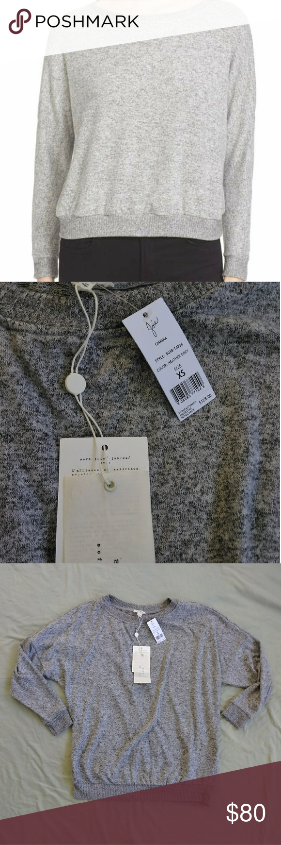 0f06f07228e67a Soft Joie Giardia Sweater Currently on Nordstrom 128  A wide crewneck and dropped  shoulders create