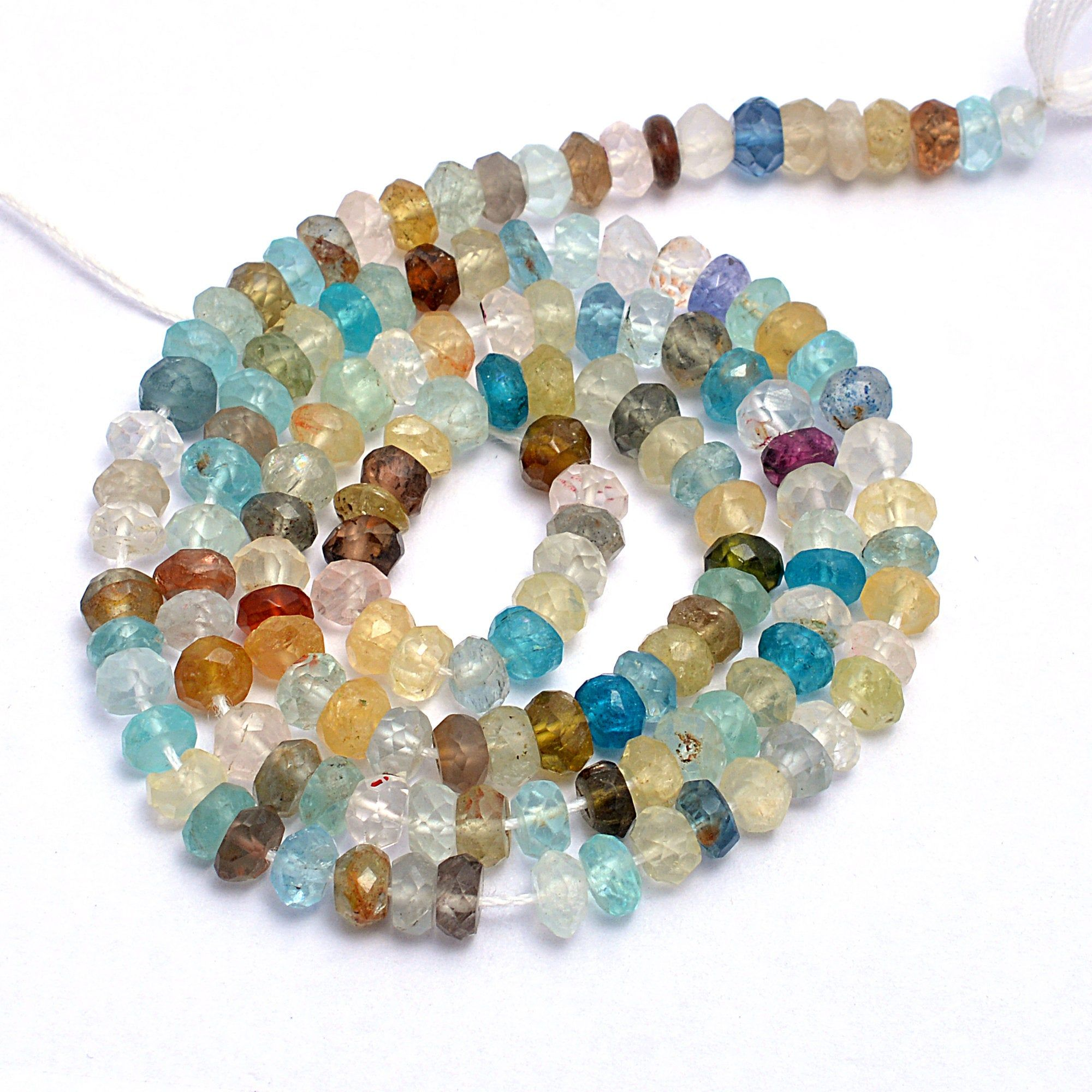 On Sale Lot of 100/% of Natural Amazonite Micro Faceted Rondelle 3.5 to 4 mm Gemstone Beads 13 Semi Precious Bead Gemstone Rondelle Beads