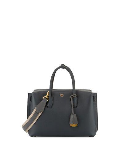 MCM Milla Medium Tote (Black) Handbags Q6DFtGxm2