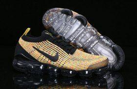Nike Air Vapormax Flyknit 2019 Mens Womens Running Shoes Black Yellow  AJ6900-006 6815c1254