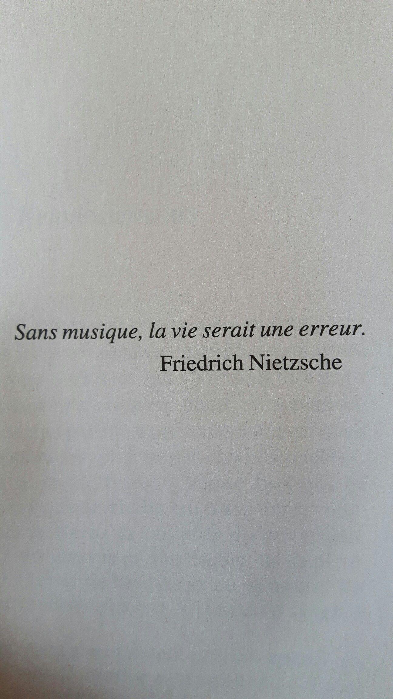 Citation Nietzsche Musique : Friedrich nietzsche a dit sans la musique la vie serait une erreur