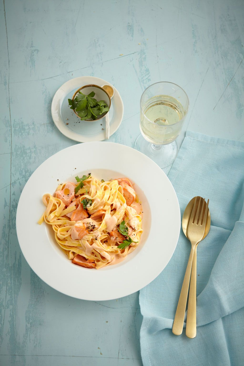Photo of Salmon Cream Sauce with Pasta by Angel_Kessy   Chef