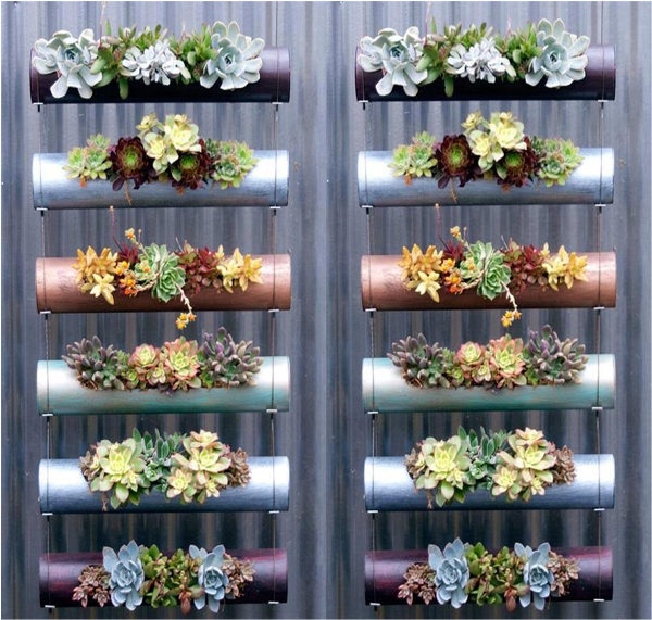 Make a Vertical Garden from Pvc Tubes Gardens Gardening for