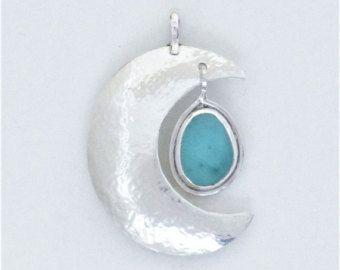 Sea Glass Jewelry Sterling Aqua Sea Glass Choker Necklace Jewelry
