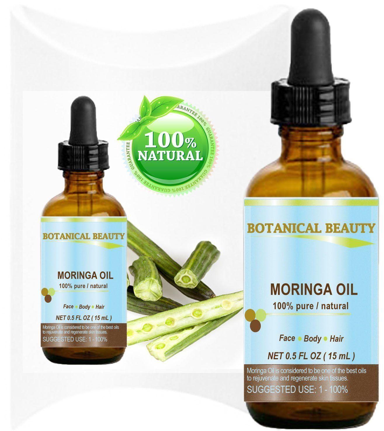 Botanical Beauty Moringa Oil for Face, Body, Hair, 0 5 fl