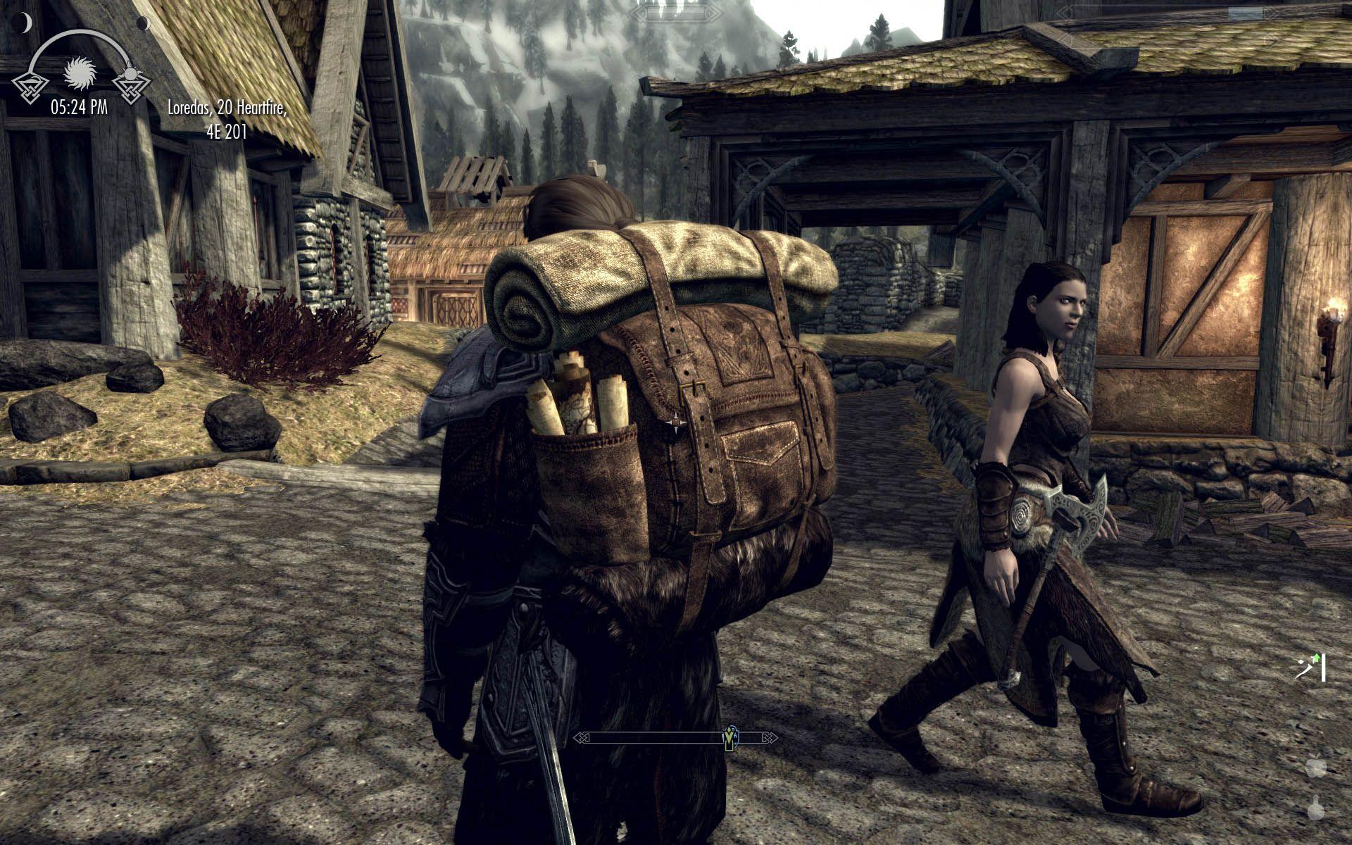 Big Leather Backpack | Mods: Skyrim | Pinterest | Leather ...