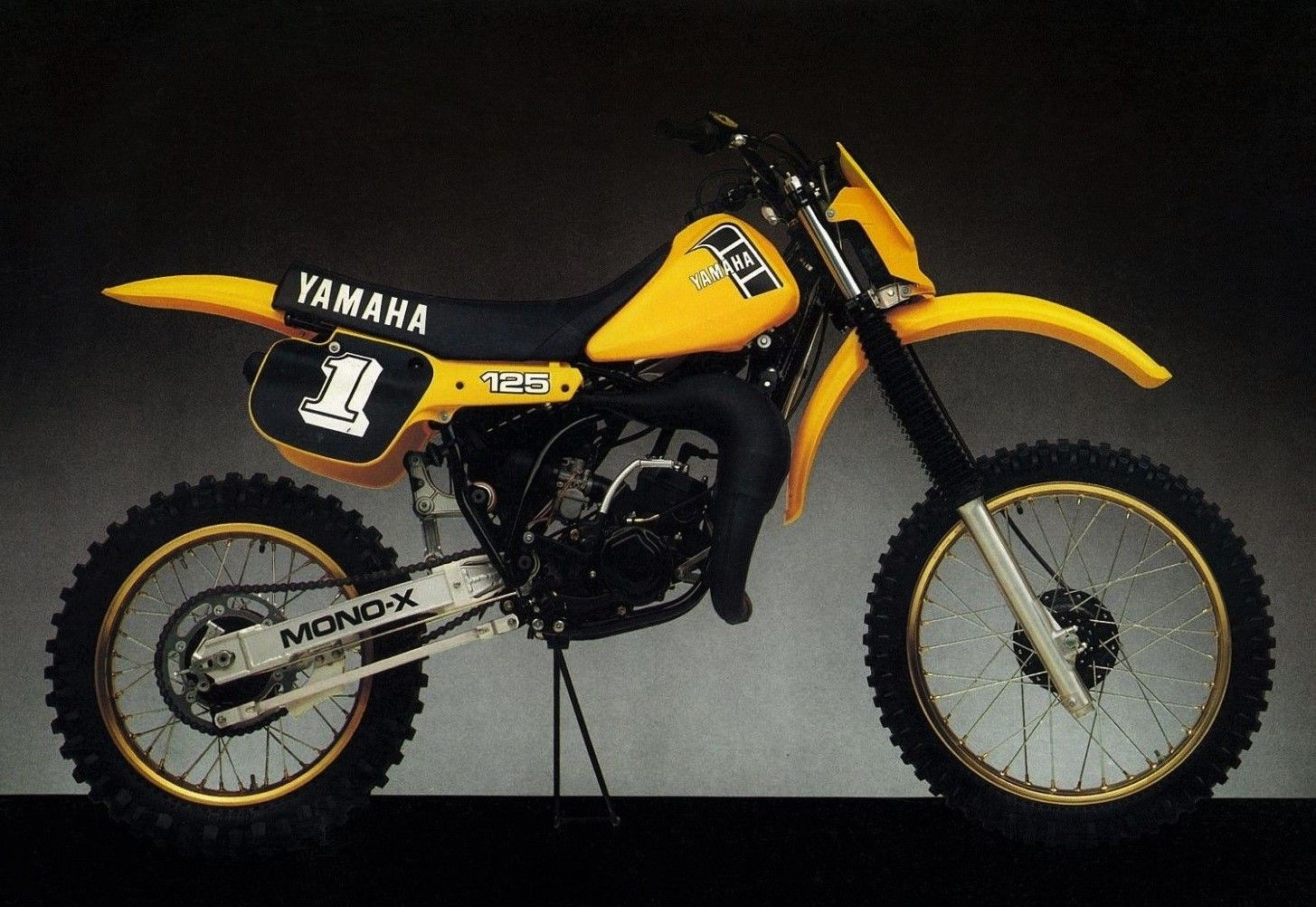 Yamaha Yz125 1983 Vintage Motocross Classic Bikes Bike Photo